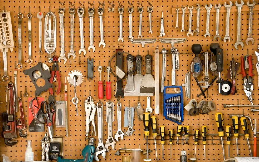 pegboard is a great material for garage storage